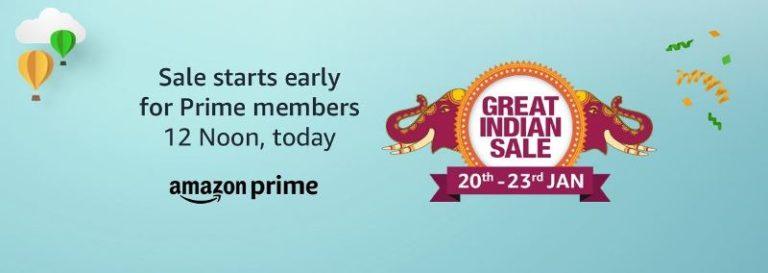 Amazon Great Indian Sale - 20th Jan - 23rd Jan 2019