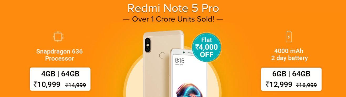 Mi Days Sale - Redmi Note 5 Pro